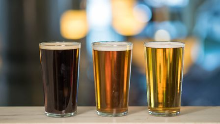 Three of the 10,000 cask beers on offer in Britain (photo: Will Ridgard)