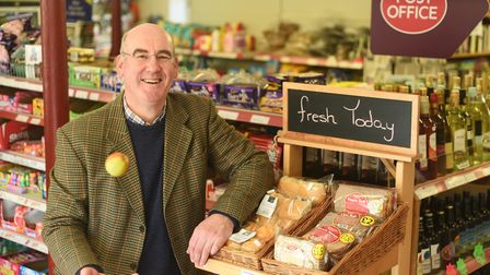 Andrew Purdy at Great Ryburgh Village Shop and Post Office (photo: Ian Burt)