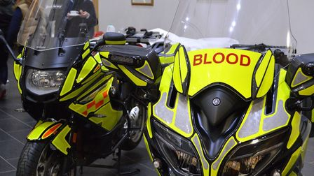 Two of Norfolk Blood Bikes' machines, a BMW 800 and Yamaha 1300. Picture SERV Norfolk Blood Bikes.