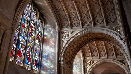 Some of the stunning stained glass in Norwich Cathedral. Photo: Bill Smith