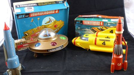 These futuristic 1960s toys from the cult Gerry and Sylvia Anderson science fiction TV series, Thund