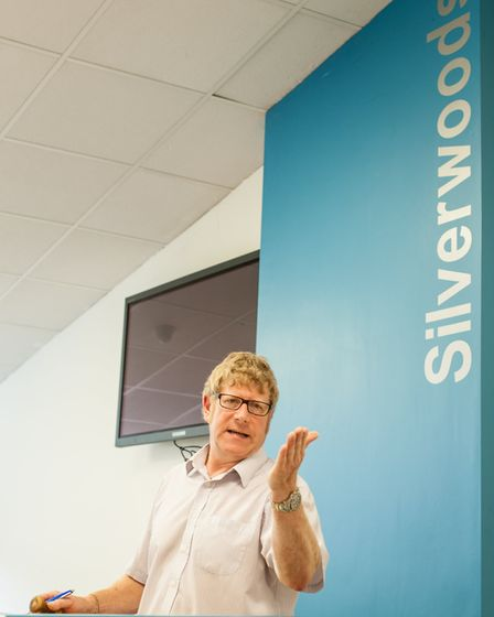 Auctioneer Wilf Mould taking a live sale at Silverwoods of Lancashire