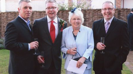 From left to right, Phillip, Richard, Alma and David Hughes. Photo: Richard Hughes