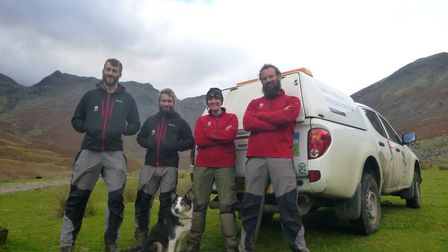 Rowan at work with the South lakes Upland team