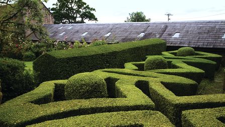 The design of the Knot Garden was inspired by 17th century leaded windows