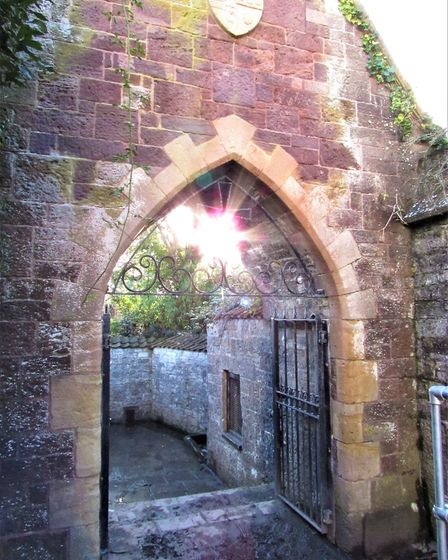 The gateway to St Andrews Holy Well
