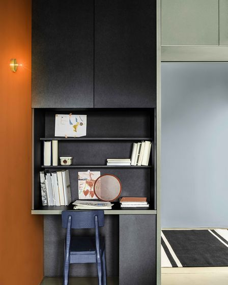 Delineate your workspace with clever colour like Dulux Colour of the Year 2020 Tranquil Dawn