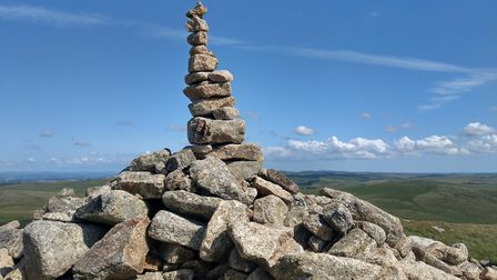 Stone cairn at the summit of Brown Willy Photo: Alison Taylor