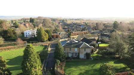 A view of Hinton St George from the church tower