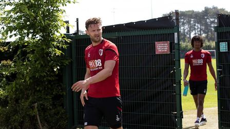 Simon Francis and Nathan Ake back at the club's training ground Photo AFC Bournemouth