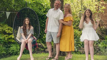 Andrew and Kila Redfearn with daughters Grace and Clara