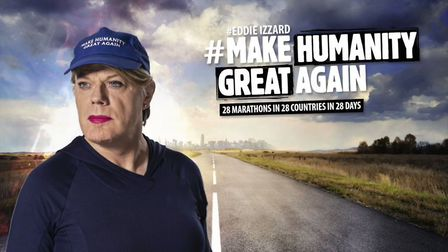 Eddie Izzard's Make Humanity Great Again campaign. Photograph: Twitter.