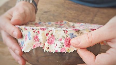 Make your own beeswax wrap to cover food containers