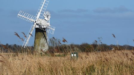 The windmill at the junction of the River Bure and the River Thurne. Picture: DENISE BRADLEY