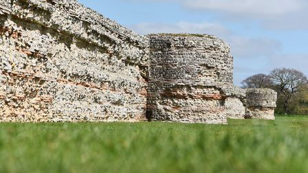 The ruins of the Roman fort at Burgh Castle. Picture: James Bass