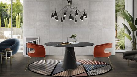Bertoia Dining Table and Ellen Dining Chair by Essential Home