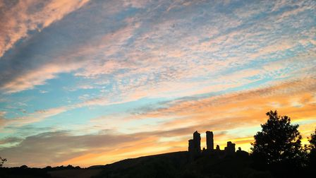 Sunset at Corfe Castle, photo credit: Greg Funnell Photography