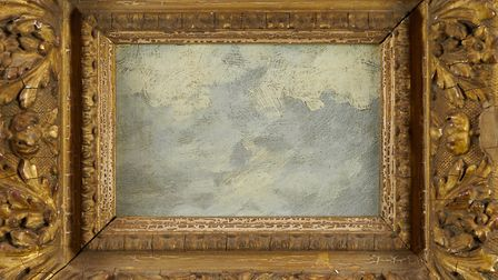 A small oil on panel cloud sketch, described as 'circle of John Constable' achieved £16,000 at Reema