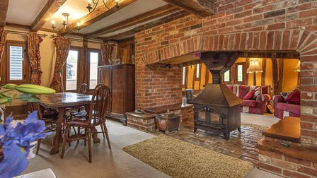 The interior of Church Mouse barn in Finningham is both spacious and cosy. Photo: Savills
