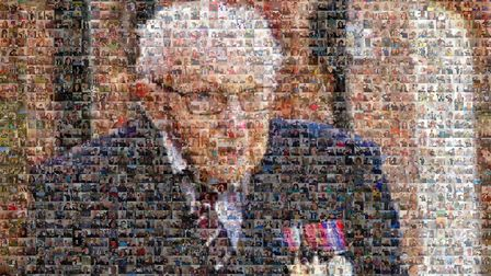 A mosaic of Tom Moore - photo: BBC