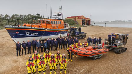 Wells RNLI crews, support teams and boats. Photo: Chris Taylor