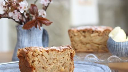 My Dorset Apple Cake is lightly spiced, dairy free and heavily laced with apple