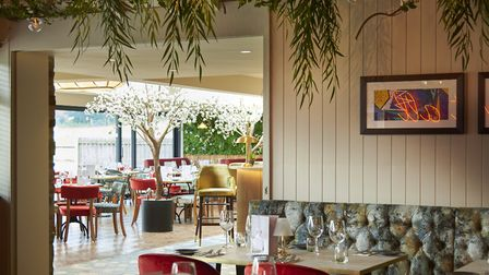 Diners can eat, drink, relax and unwind in the beautiful outdoor area and garden room. Picture: Vani