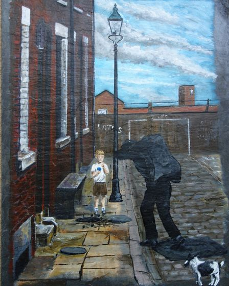 Coal delivery by Oldham artist Mark Wellburn