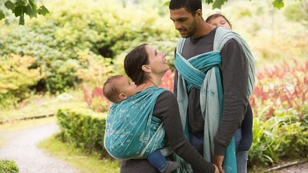 The five metre slings can fit parents of all sizes