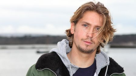 Actor Jamie Bacon at Lilliput Sailing Club, Poole.