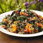 Chard with garlic, quinoa, tomatoes and parsley Photography ©Andrew Montgomery
