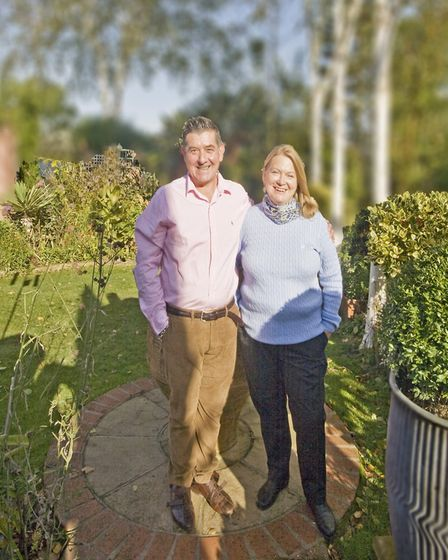 Emanuele and Helen in their garden (photo: Tony Hall)