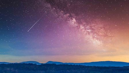 ISS trail over the Welsh Hills from Crank by Dr Barrie Pennington