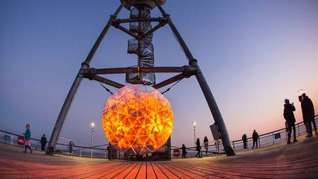 Rising Sun installation by Will Simpson on Bournemouth PIer at a previous ABS