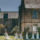 Wedding procession at Mapperton House & Gardens Photo: Paul Underhill