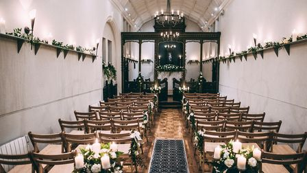 The private chapel at the Alexandra Hotel can be used for civil ceremonies or set up for a wedding b