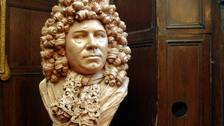 Bust of Sir Cloudsley Shovell at Strangers' Hall in Norwich . Photo: Bill Smith