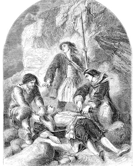 Wreckers stripping the dead body of Admiral of the Fleet Sir Cloudesley Shovell. Photo: Alamy