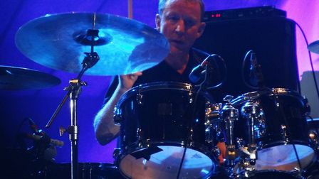 Blur drummer Dave Rowntree playing with the band during a concert in Italy in July 2013. Picture: Wi