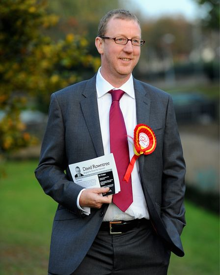 Dave Rowntree campaigning in Norwich. Picture: Denise Bradley