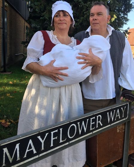 Actors rehearse for the play 1620: A New World Odyssey as part the Mayflower 400 Harleston. Picture: