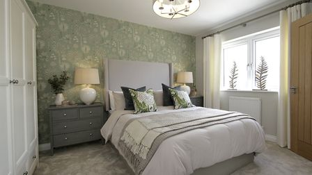 A bedroom in th new Oakmere development at Bowland Park, Clitheroe