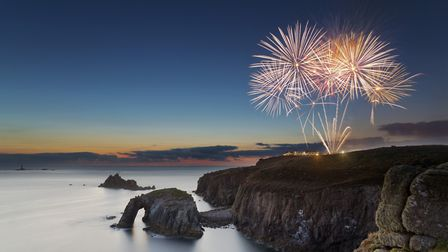 There are firework displays in August at Lands End