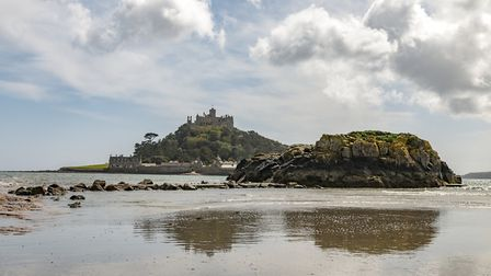 At low tide visitors can approach St Michael's Mount via the Causeway. PICTURE: NT IMAGES/HUGH MOTHE