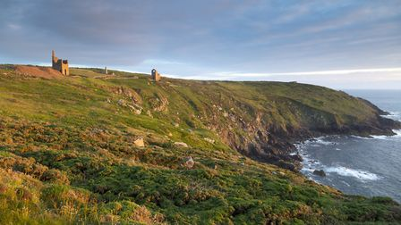 BOTALLACK – a view of the ruined engine houses Wheal Edward and Wheal Owles on the coast at Botallac