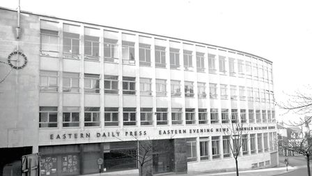 The Eastern Daily Press building in Redwell Street, Norwich. Photo: Archant library