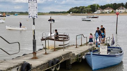 The ferry still runs as a link for foot and cycle passengers between Felixstowe Ferry and Bawdsey. P