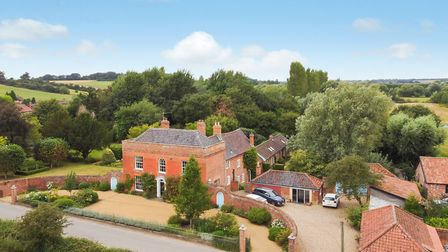 The Red House at Withersdale in the Waveney Valley is an elegant, grade II listed Georgian property