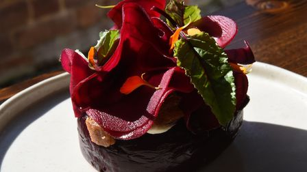 Whole roasted beetroot at the Northgate in Bury St Edmunds where chef Greig Young is concentrating o