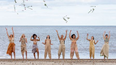 The models celebrate at the fashion shoot for ethical brand The Way of Tea. Photo: Becky Louise Phot